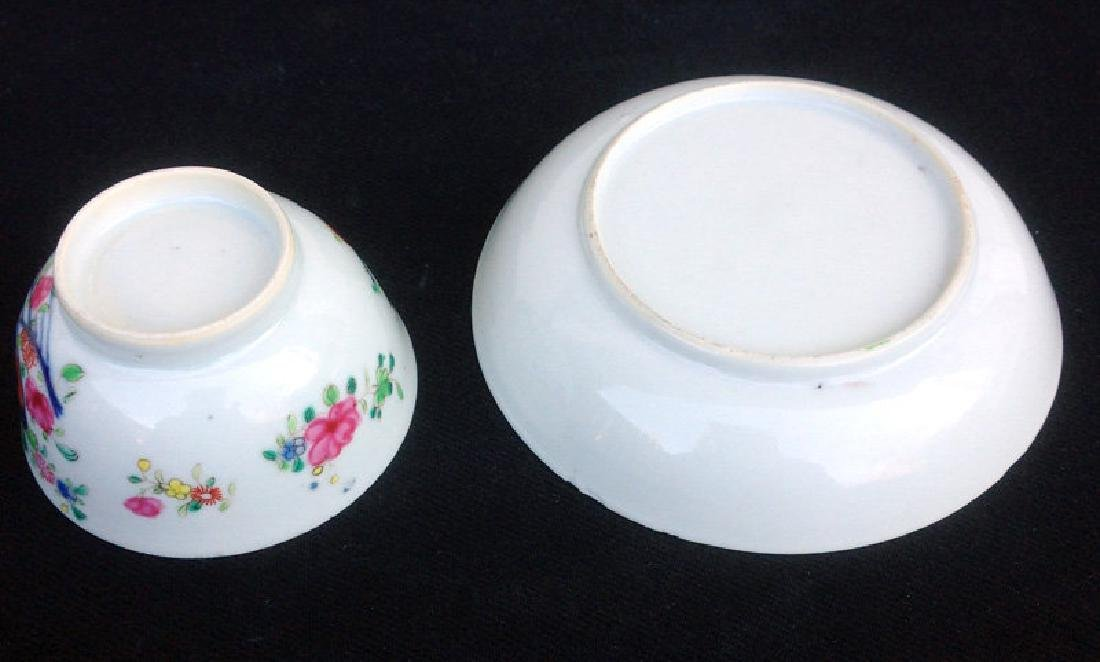 Pomegranate Famille rose cup and saucer, Qianlong - 6
