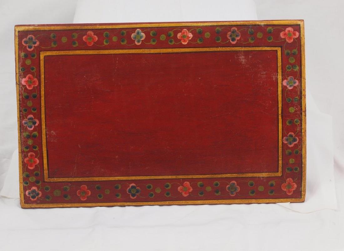 Antique wood panel India two half-fish Gods Matsya - 5