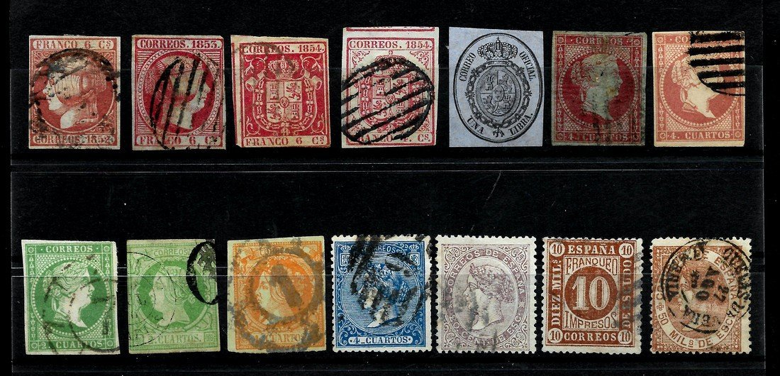 SPAIN 1852/1909 - LOT OF CLASSIC STAMPS - EDIFIL 12-271 - 3