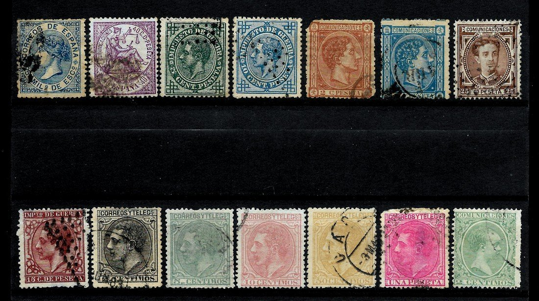 SPAIN 1852/1909 - LOT OF CLASSIC STAMPS - EDIFIL 12-271 - 4