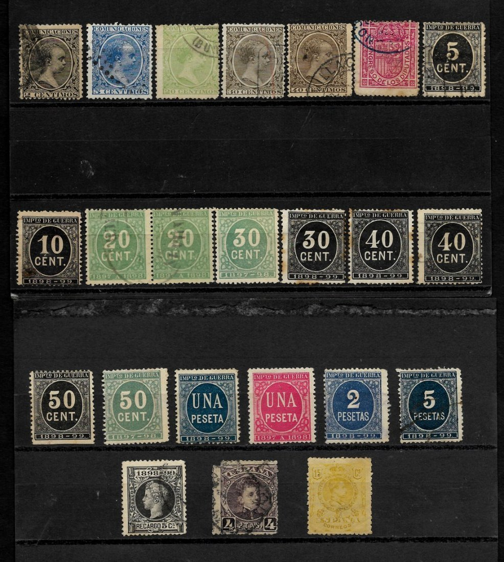 SPAIN 1852/1909 - LOT OF CLASSIC STAMPS - EDIFIL 12-271 - 5