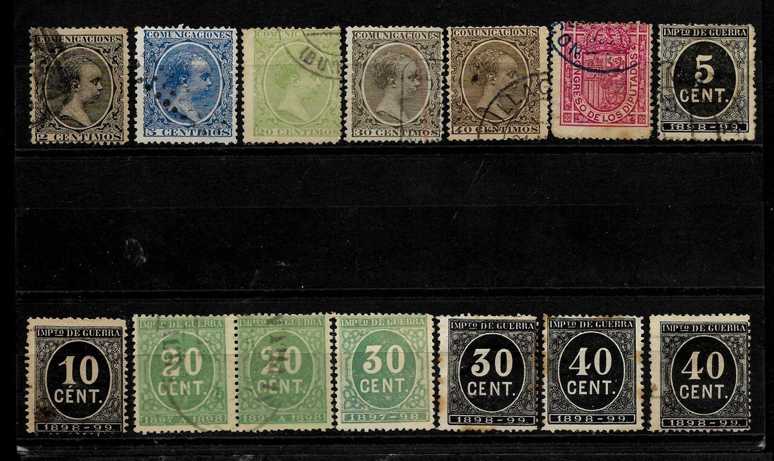 SPAIN 1852/1909 - LOT OF CLASSIC STAMPS - EDIFIL 12-271 - 6