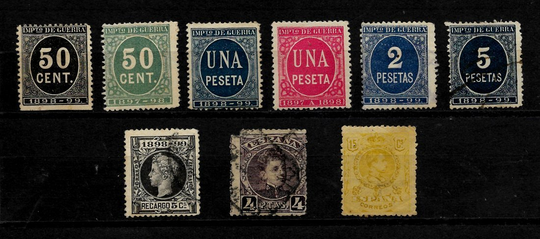 SPAIN 1852/1909 - LOT OF CLASSIC STAMPS - EDIFIL 12-271 - 7