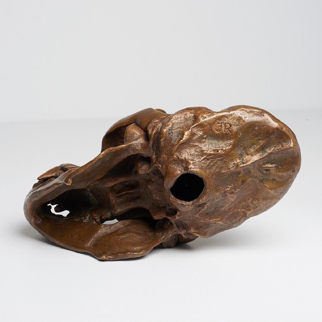 Male Western Lowland Gorilla Skull in Bronze - 5
