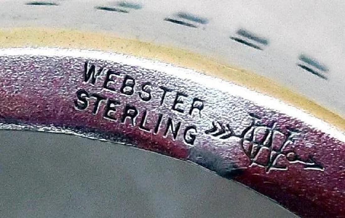 Vanity Dresser Jar, Sterling Silver Basket Base - 5