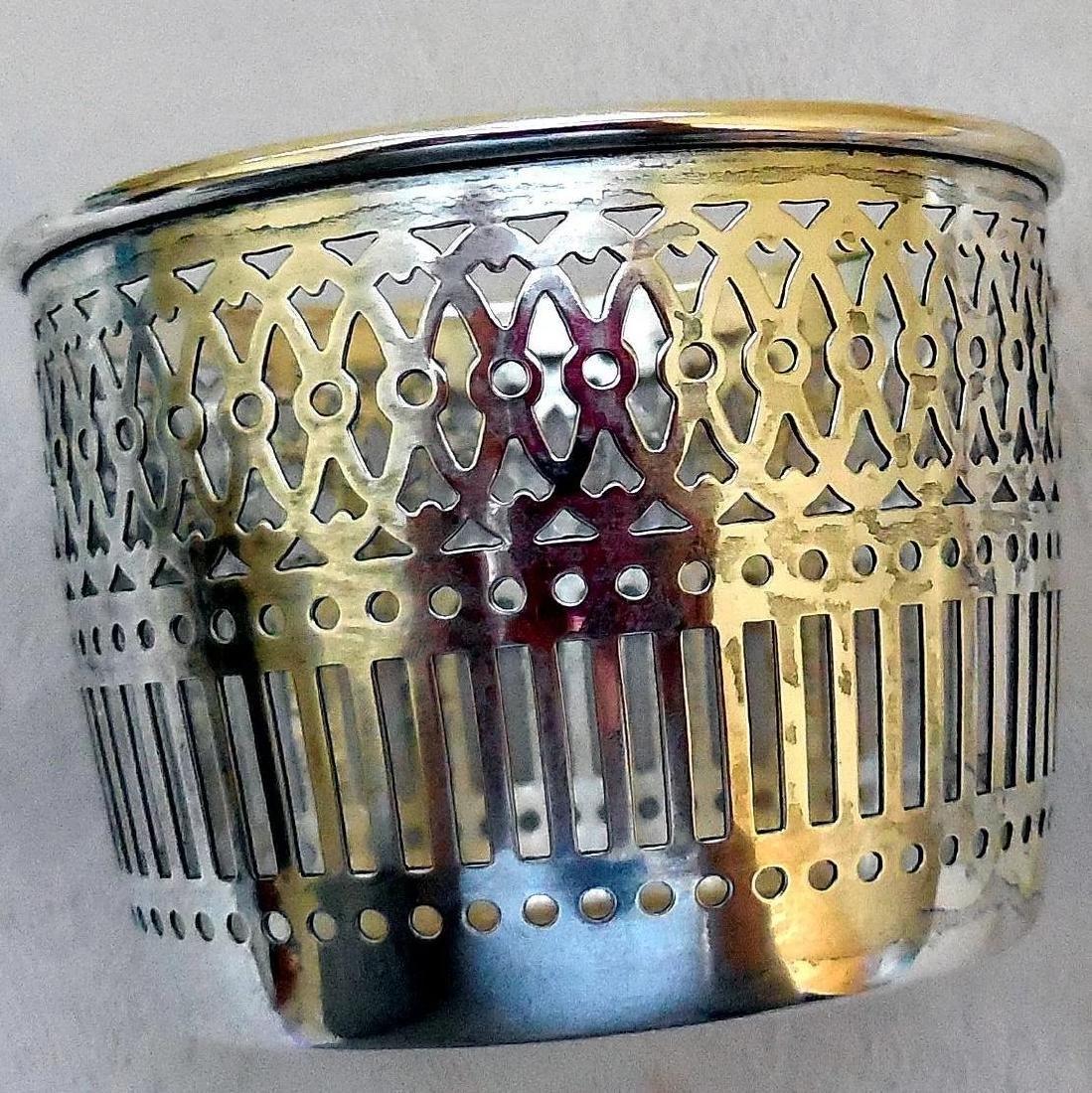 Vanity Dresser Jar, Sterling Silver Basket Base - 6