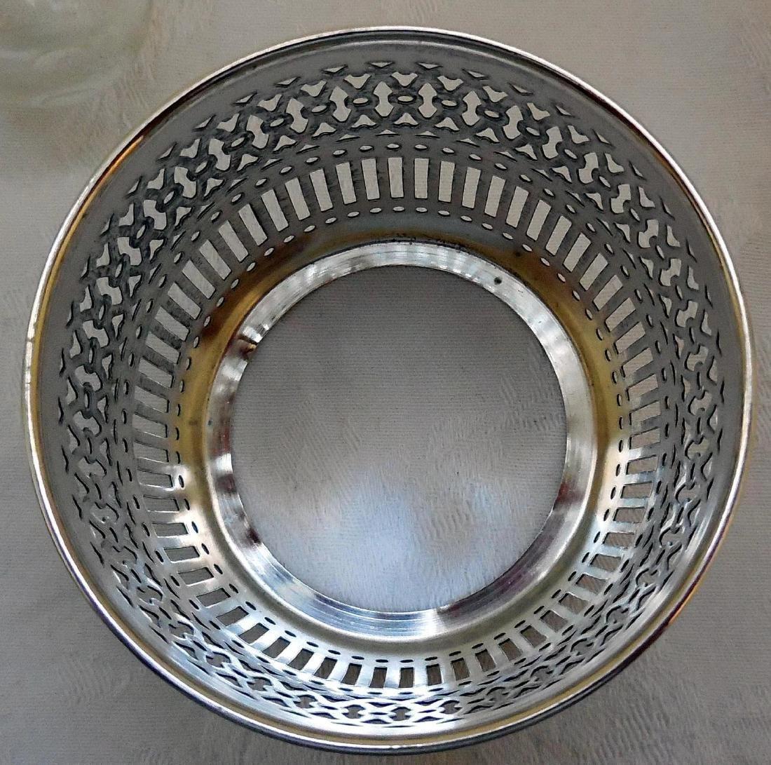 Vanity Dresser Jar, Sterling Silver Basket Base - 7