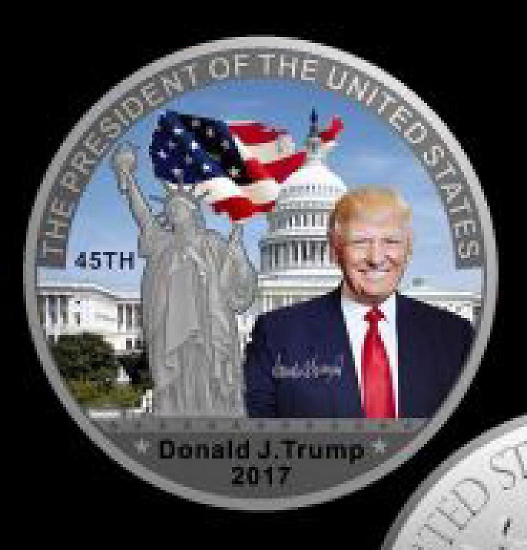 Donald Trump 45th President Statue of Liberty