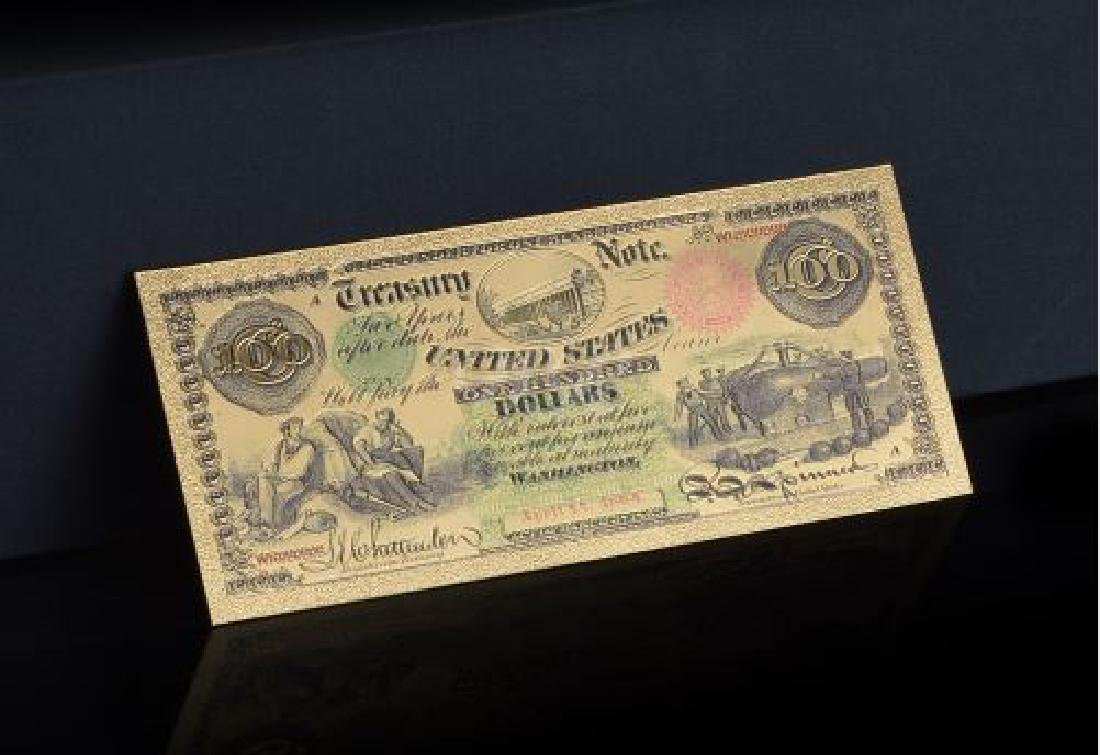 Us Currency Banknote Paper 100 Dollar