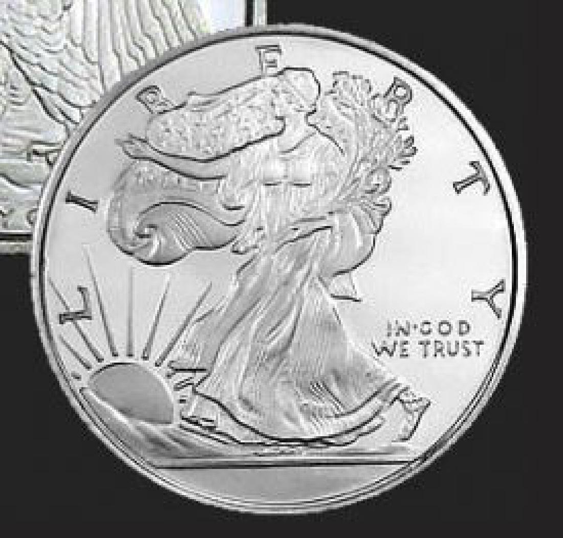 Walking Liberty Fractional Silver Bullion Round .999 - 2