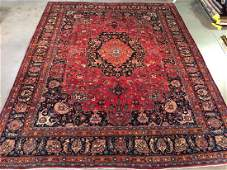Magnificent Signed Persian Mashad Rug 10x12.8