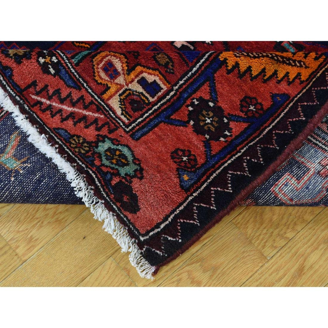 Hand Knotted Semi Antique Persian Hamadan Rug 5.1x9 - 7