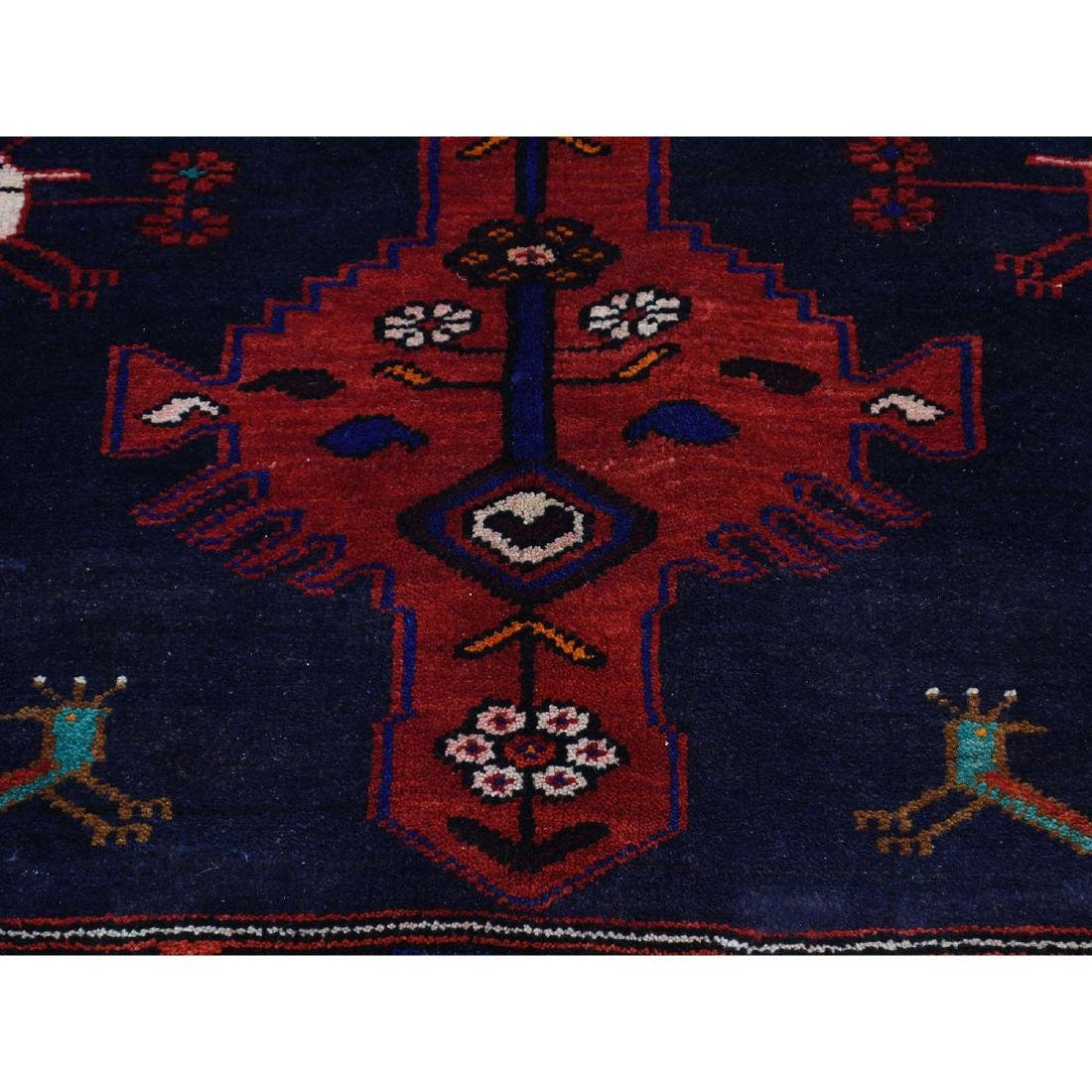 Hand Knotted Semi Antique Persian Hamadan Rug 5.1x9 - 8