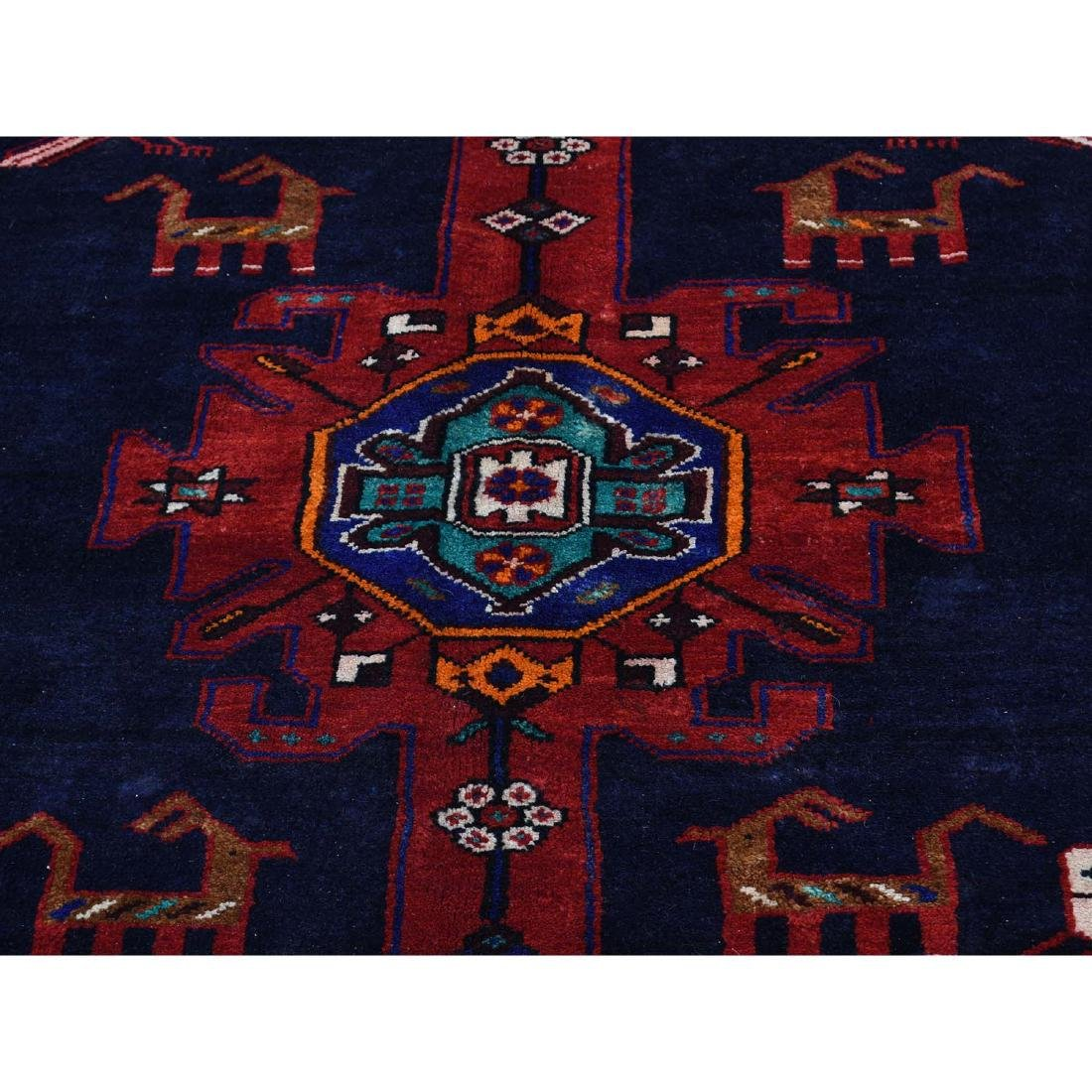 Hand Knotted Semi Antique Persian Hamadan Rug 5.1x9 - 9