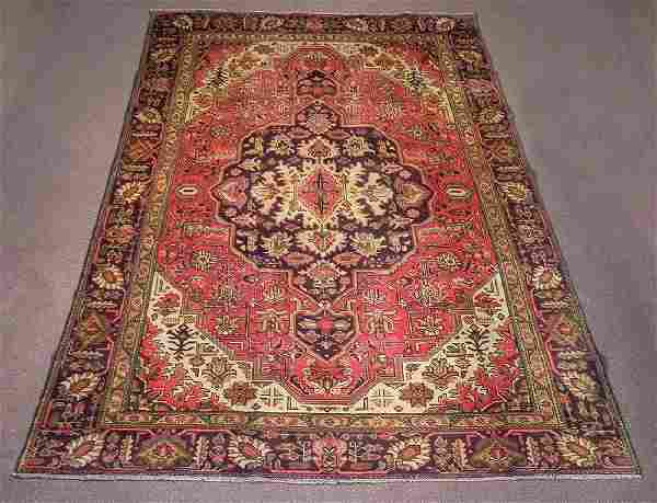 Semi Antique Persian Heriz Rug 10.8x7.3