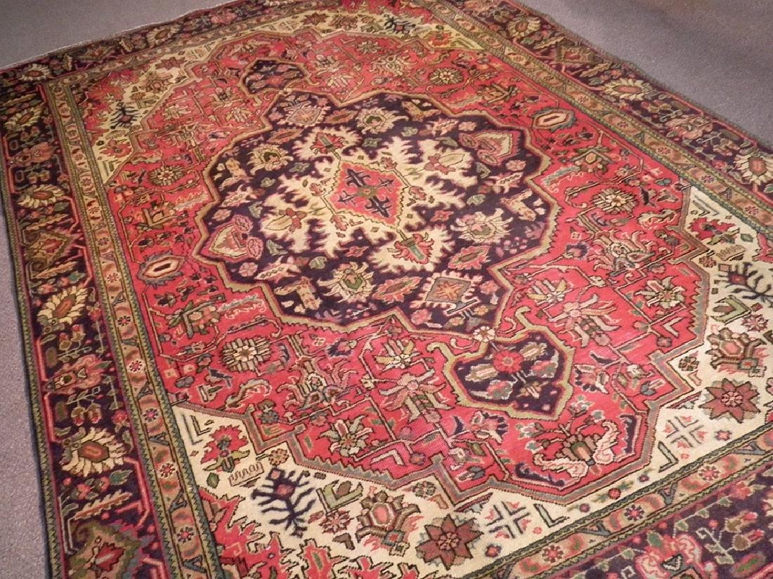 Semi Antique Persian Heriz Rug 10.8x7.3 - 2