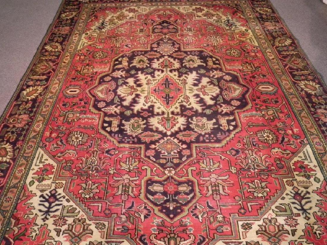 Semi Antique Persian Heriz Rug 10.8x7.3 - 3