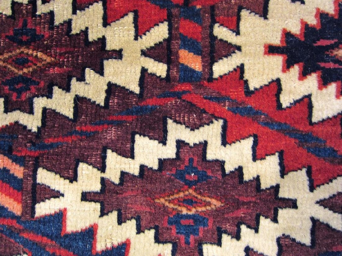 Antique Fine Russian Yomud Asmalik Rug Turkoman 2.1x4.1 - 4