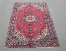 Hand Woven Semi Antique Persian Tabriz Rug 6.8x9.9