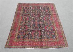 Semi Antique Allover Floral Persian Tabriz Rug 9.4x6.4