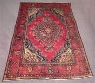 Hand Woven Semi Antique Persian Tabriz Rug 6.2x9.2