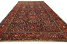Antique Heriz Rug Persian Serapi Karajey 11.6x18
