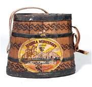 Early Handmade Wooden Tequila Monterrey Canteen