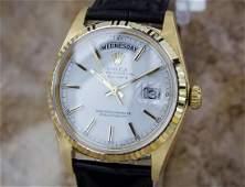Rolex Mens 1974 President 1803 Swiss Made 18k Gold