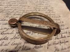 Brass Pocket Folding Optical Glass Magnifying Lens