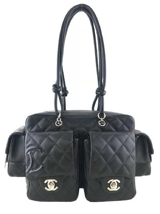 831a50e41b85 Chanel Ligne Cambon Quilted Small Reporter Bag