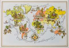 1967 PanAm Pictorial Map of the World  World