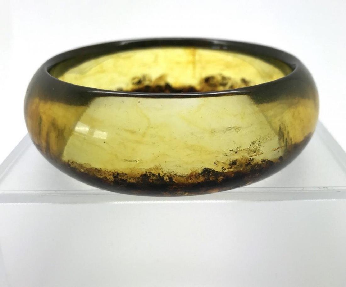 Baltic amber bangle bracelet honey/cognac 80x24mm 36 gr