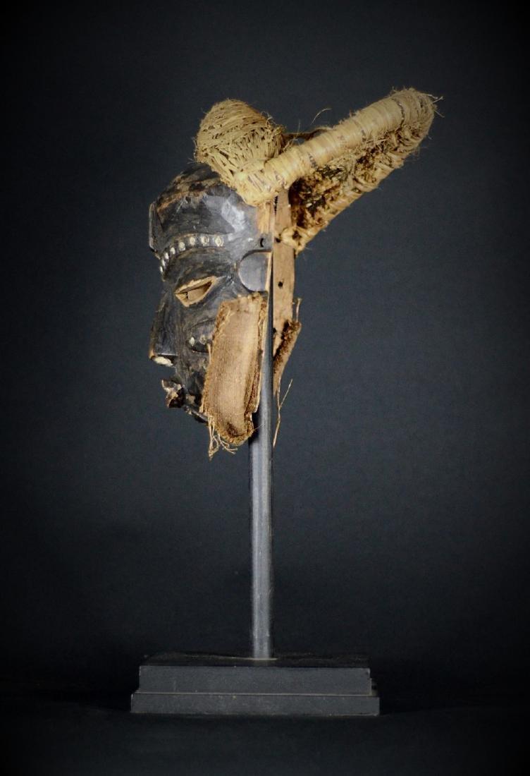 Elegant African Tribal PENDE Mbangu Mask DRC - 4