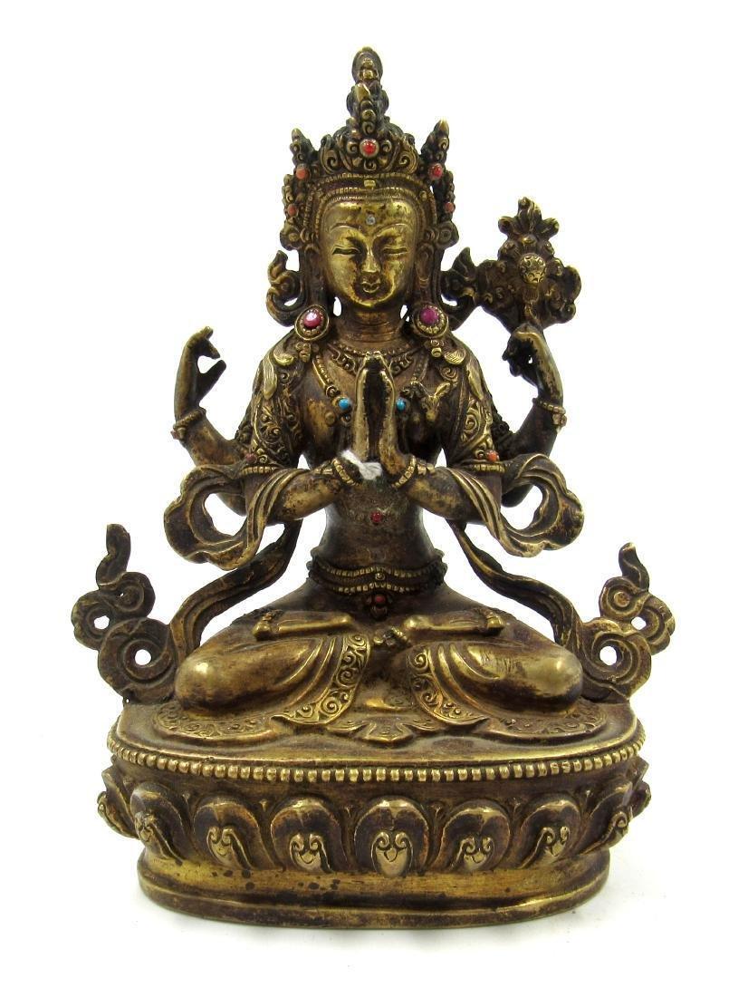 Rare Chinese Ming Dynasty Bronze Buddha Statue