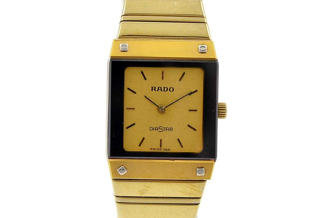de695145389 Vintage Rado Diastar Gold Plated Quartz Ladies Watch