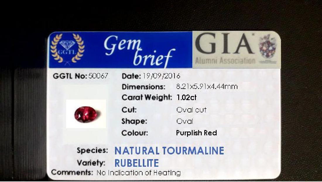 1.02ct Natural Rubellite, unheated, no radiation - 2
