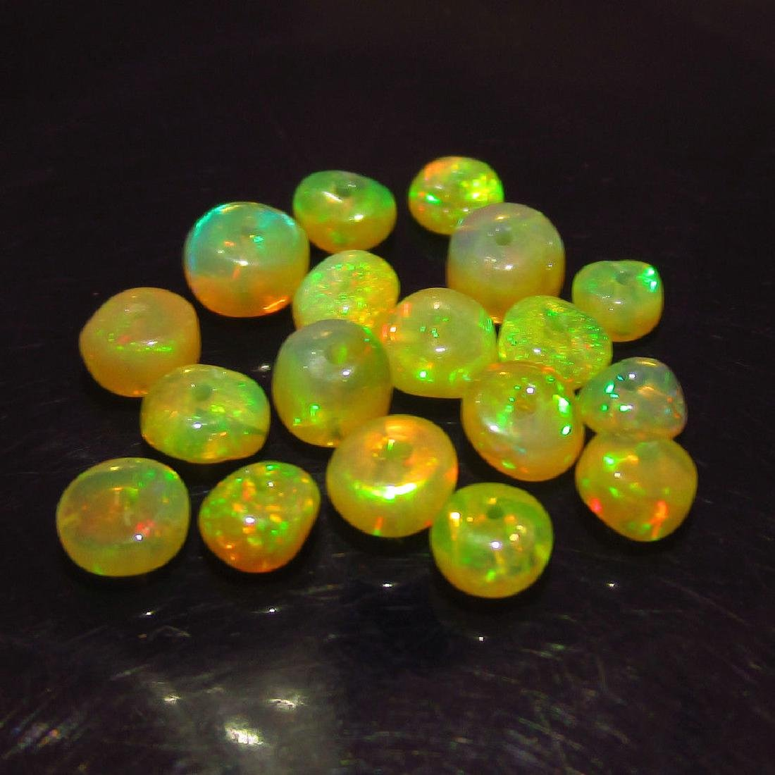 3.50 Ct Genuine Loose 10 Drilled Opal Beads Multi-Color - 3