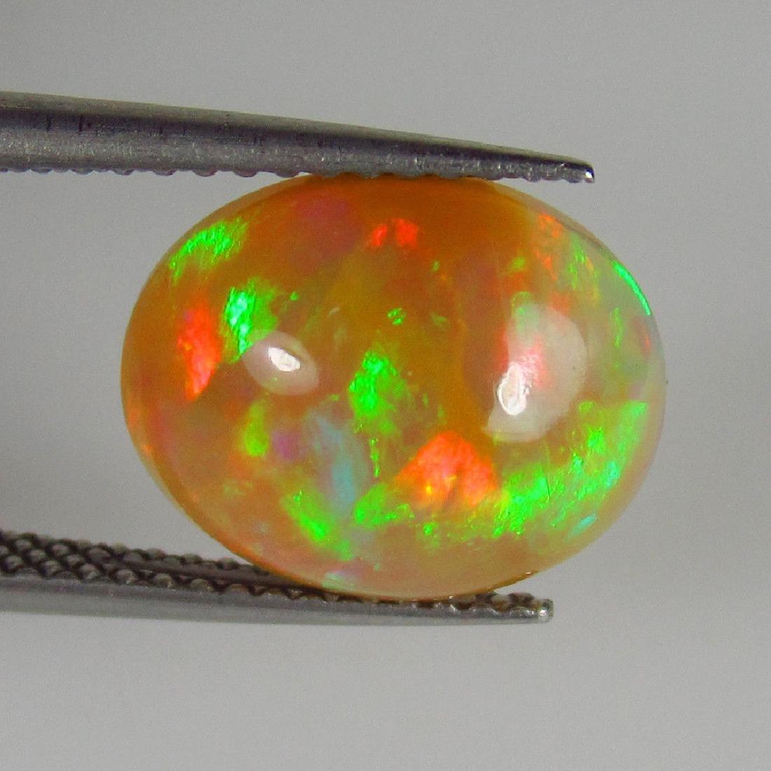 2.48 Ct Genuine Loose Ethiopian Multi-Color Fire Milky