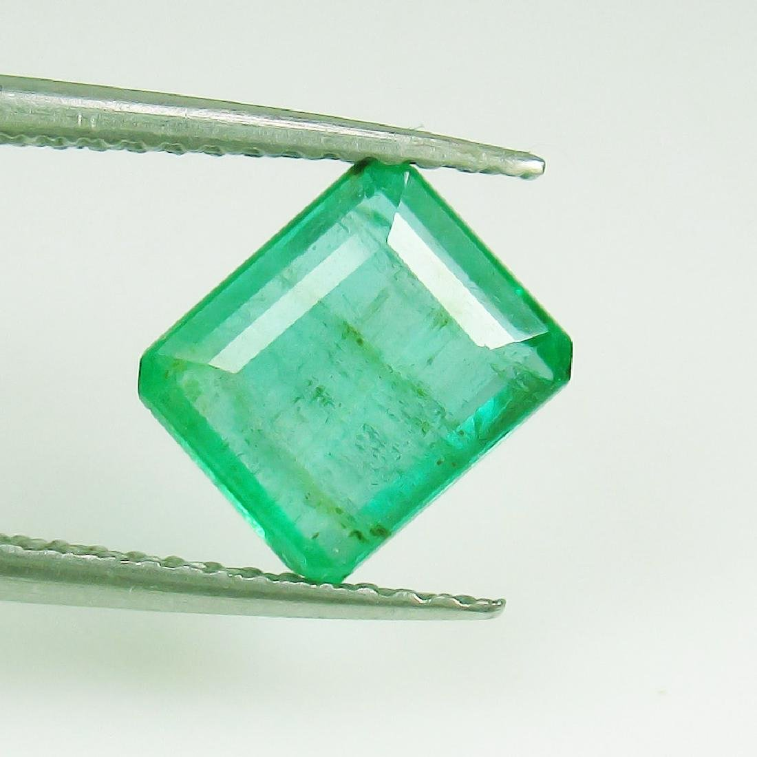1.78 Ct Genuine Loose Zambian Emerald Excellent Octagon