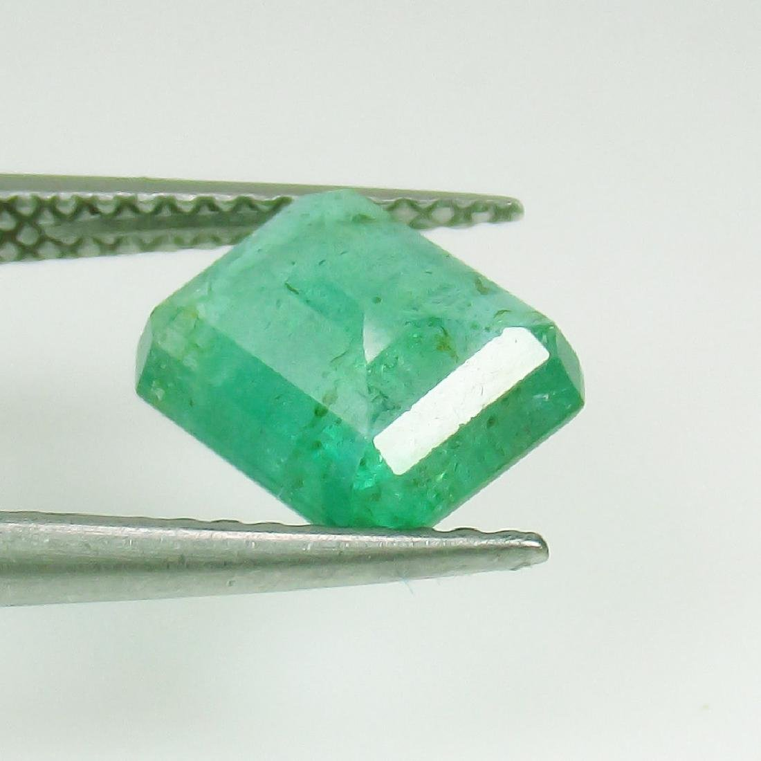 1.78 Ct Genuine Loose Zambian Emerald Excellent Octagon - 2