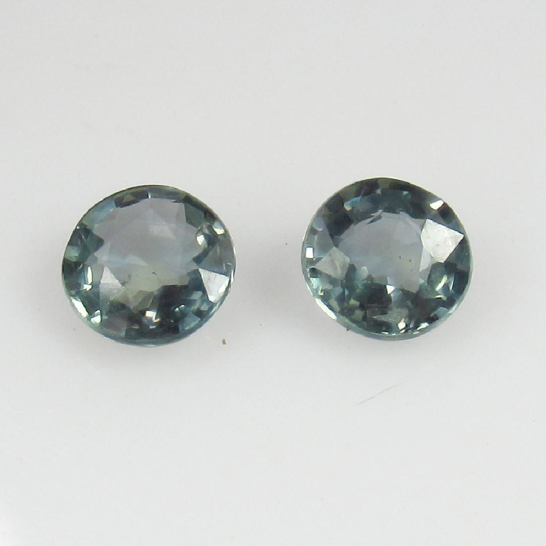 1.26 Ct Genuine Ceylon Green Sapphire Matching Round
