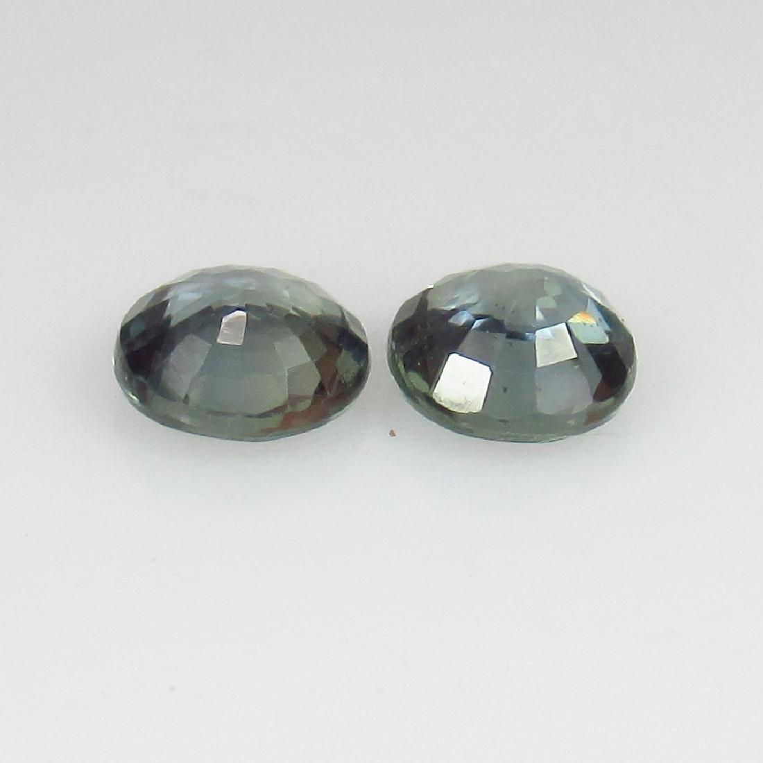 1.26 Ct Genuine Ceylon Green Sapphire Matching Round - 2