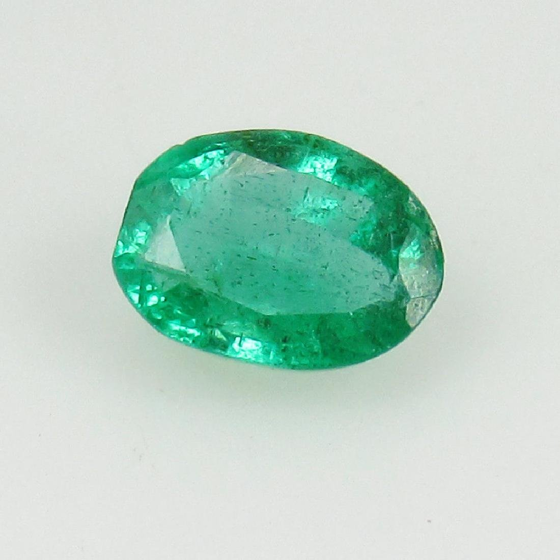0.55 Ct Genuine Loose Zambian Emerald Oval cut Top - 2