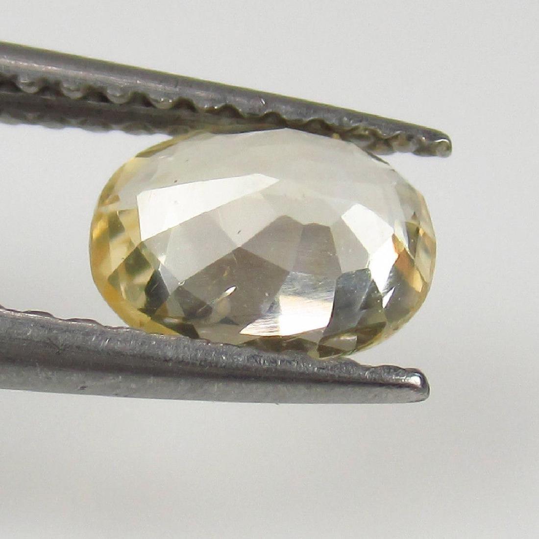 0.86 Ct Genuine Ceylon Yellow Sapphire Top Quality - 2