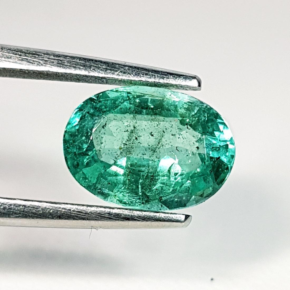 Wonderful Oval Cut Natural Emerald - 1.90 ct