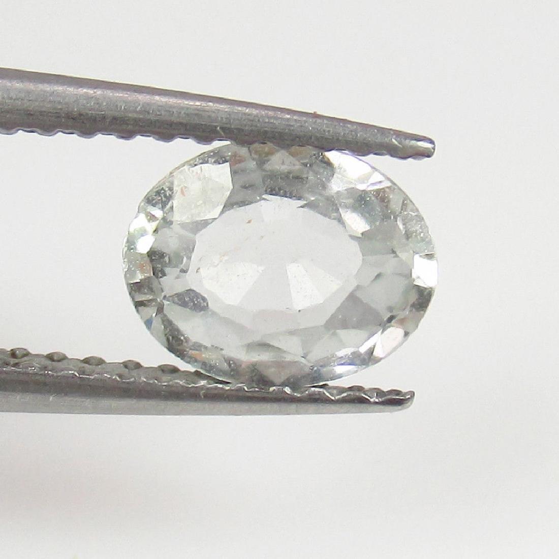 0.85 Ct Genuine Ceylon Unheated White Sapphire Oval cut