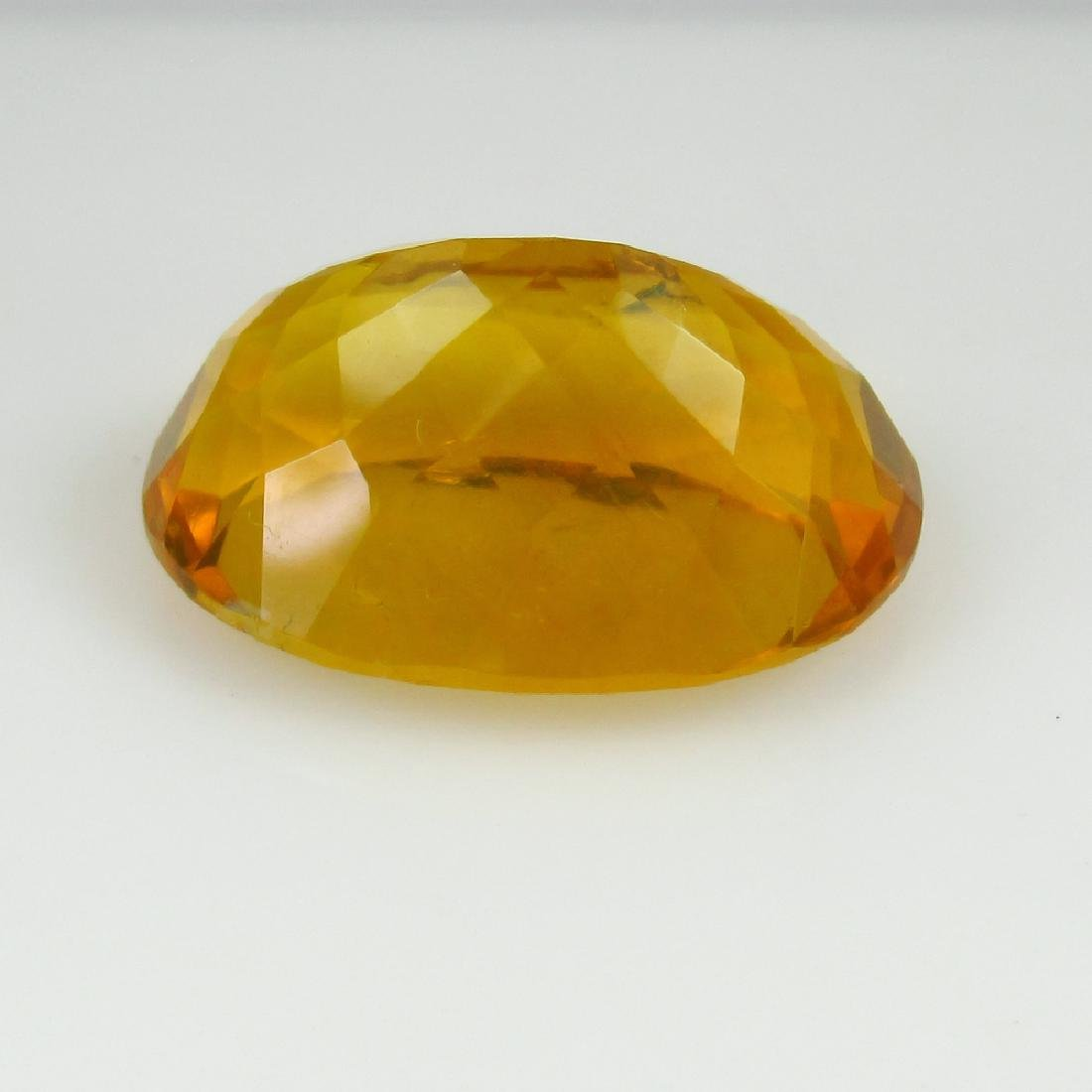 19.44 Ct Genuine Loose Yellow Flourite Nice Oval cut - 2