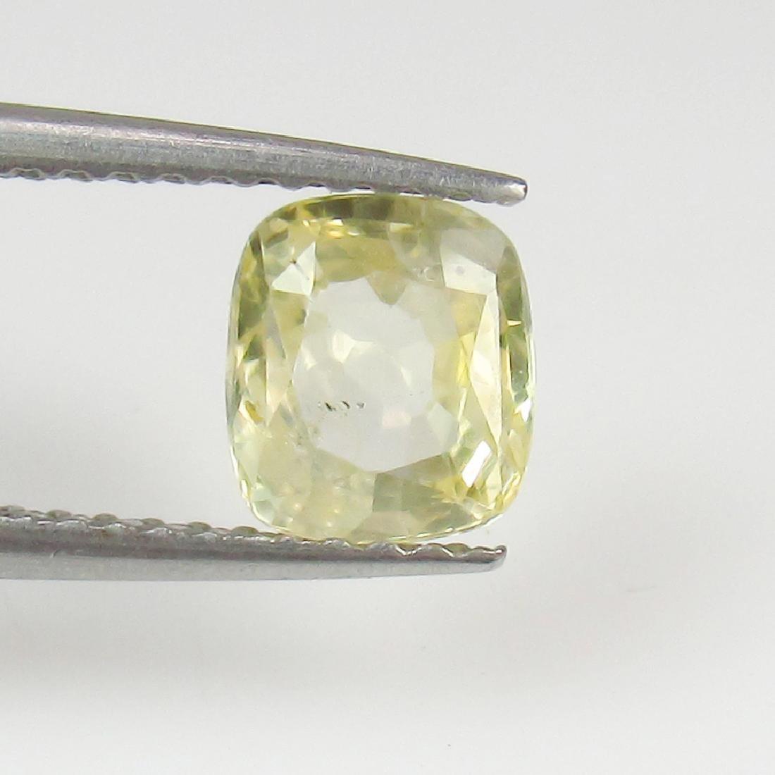 1.22 Ct Genuine Ceylon Unheated Yellow Sapphire Top