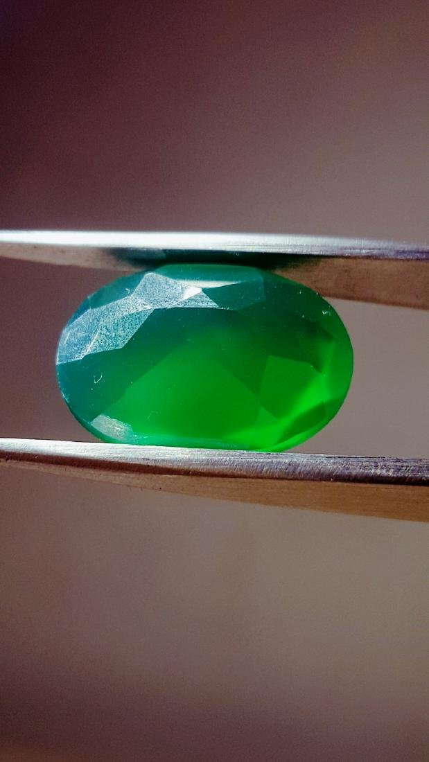 SUPREME QUALITY NATURAL DEEP GREEN NATURAL CHALCEDONY - 2