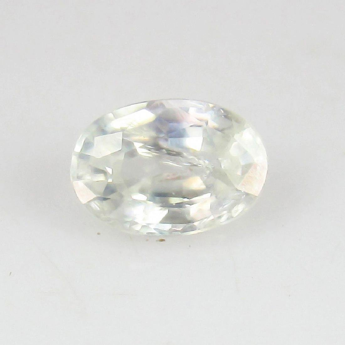 1.18 Ct Genuine Ceylon Unheated White Sapphire 7X5 mm